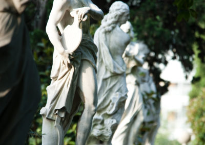 Statue balaustra Giardino all'Italiana
