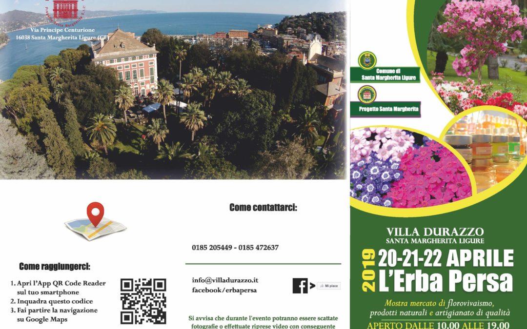 Pasqua a Villa Durazzo: torna l'Erba Persa!