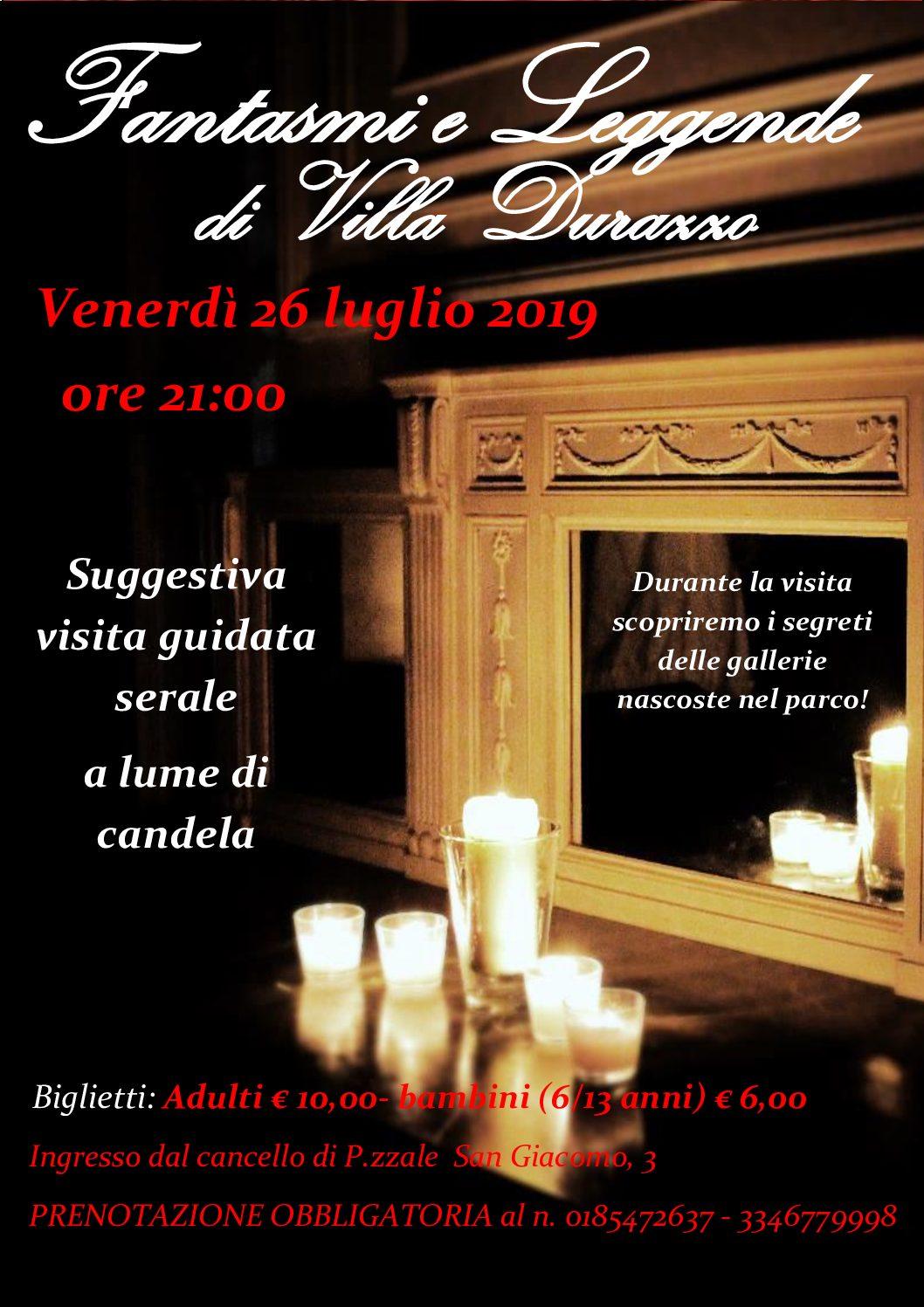 Fantasmi e leggende di Villa Durazzo – venerdì 26 luglio 2019