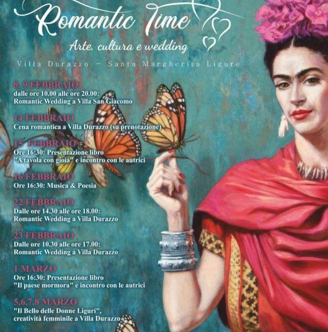 Romantic Time: arte, cultura e wedding a Villa Durazzo  –  Appuntamenti dall'8 febbraio all'8 marzo 2020