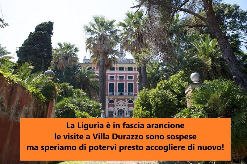 """Le visite """"Villa Durazzo: un destino straordinario"""" sono sospese"""