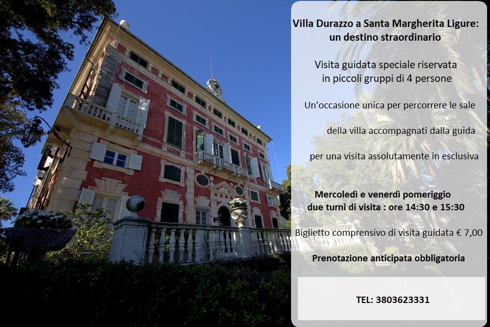 """Ritornano le visite guidate """"Villa Durazzo a Santa Margherita Ligure: un destino straordinario"""""""